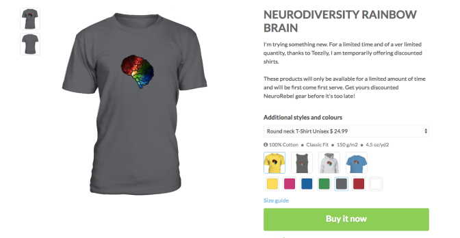 Limited time & quantity! Discounted Rainbow Brain gear!
