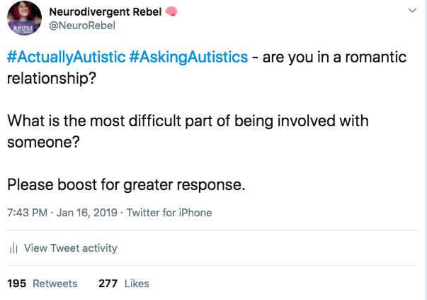 NeuroRebel Twitter post